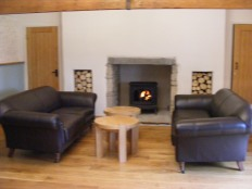 Fireplace and seating- After